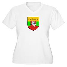 Lithuania-Shield Plus Size T-Shirt