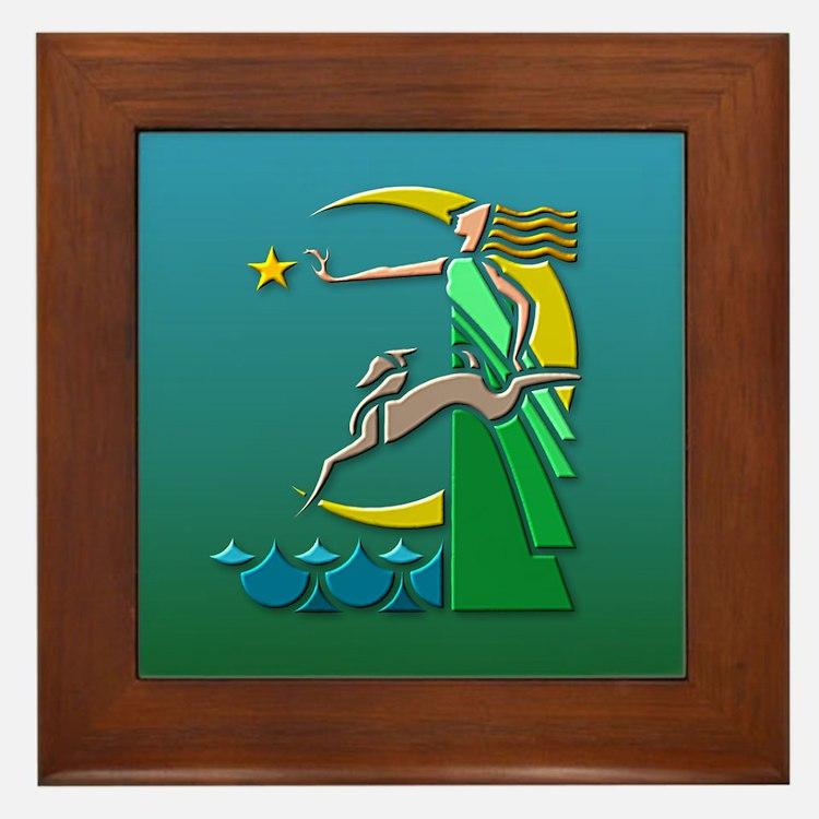Art Deco Girl 2 Framed Tile