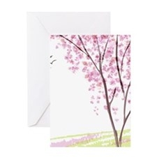Tree in Spring Greeting Cards
