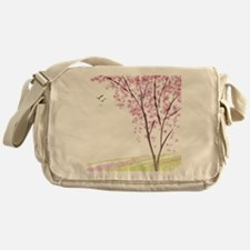 Tree in Spring Messenger Bag