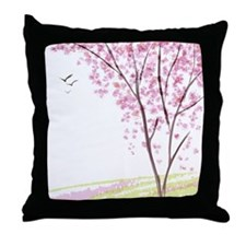 Tree in Spring Throw Pillow