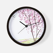 Tree in Spring Wall Clock