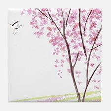 Tree in Spring Tile Coaster