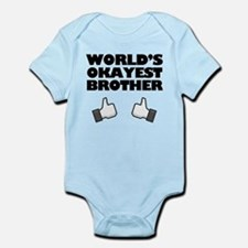 Worlds Okayest Brother Funny humor Body Suit