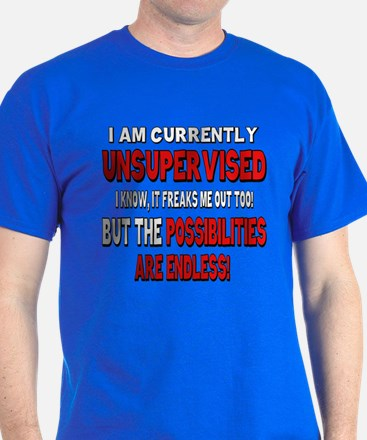 I am currently unsupervised T-Shirt