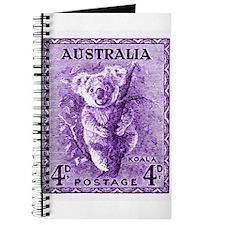 Antique 1937 Australia Koala Postage Stamp Journal