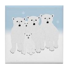 Polar Bears Tile Coaster
