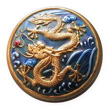 Dragon Tile Round Car Magnet