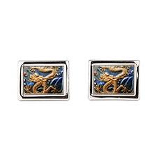 Dragon Tile Rectangular Cufflinks