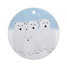 Polar Bears Ornament (round)