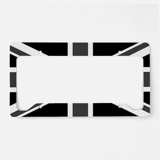 Union Jack - Black and White License Plate Holder