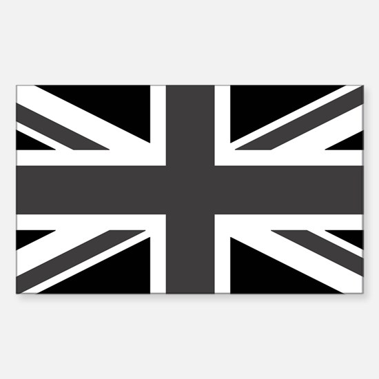 Union Jack - Black and White Decal