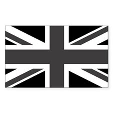 Union Jack - Black and White Stickers