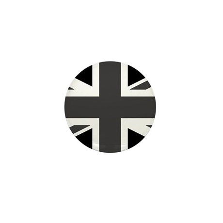 Union Jack - Black and White Mini Button