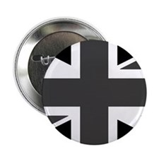 "Union Jack - Black and White 2.25"" Button"