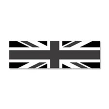 Union Jack - Black and White Car Magnet 10 x 3