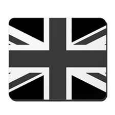 Union Jack - Black and White Mousepad