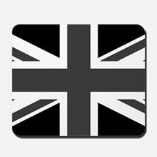 Union Jack - Black and White Mousepad