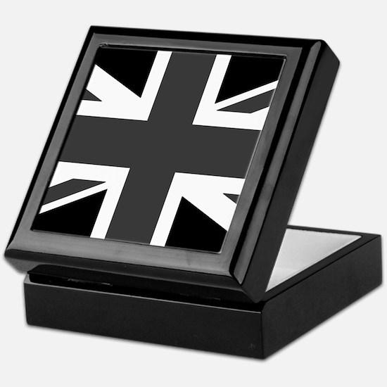 Union Jack - Black and White Keepsake Box