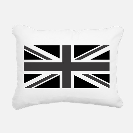 Union Jack - Black and White Rectangular Canvas Pi