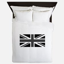 Union Jack - Black and White Queen Duvet