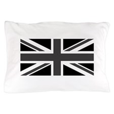 Union Jack - Black and White Pillow Case
