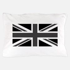 Union Jack - Black and White Pillow Case
