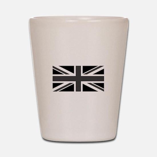 Union Jack - Black and White Shot Glass