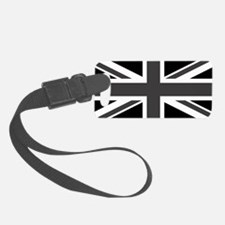 Union Jack - Black and White Luggage Tag