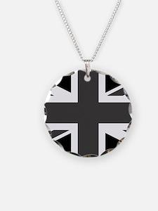 Union Jack - Black and White Necklace