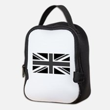 Union Jack - Black and White Neoprene Lunch Bag