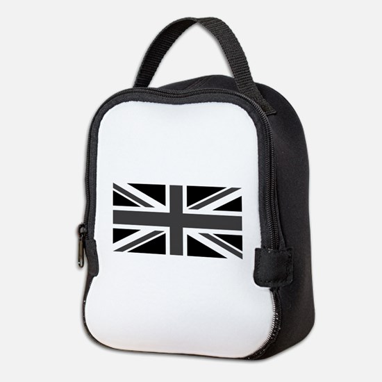 Union Jack - Black and White Neoprene Lunch Bag