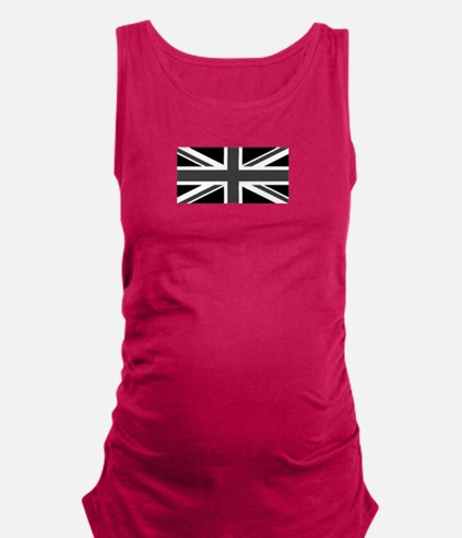Union Jack - Black and White Maternity Tank Top