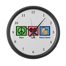 Peanut Butter Large Wall Clock