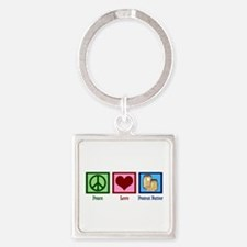 Peanut Butter Square Keychain