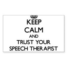 Keep Calm and Trust Your Speech arapist Decal