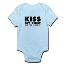 Kiss My Foot and Two Joints Up Infant Bodysuit