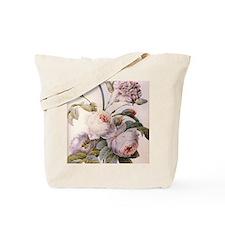 Vintage pink rose  flowers botanical illu Tote Bag