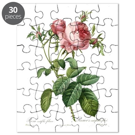 lovely vintage pink rose flowers and green puzzle by. Black Bedroom Furniture Sets. Home Design Ideas
