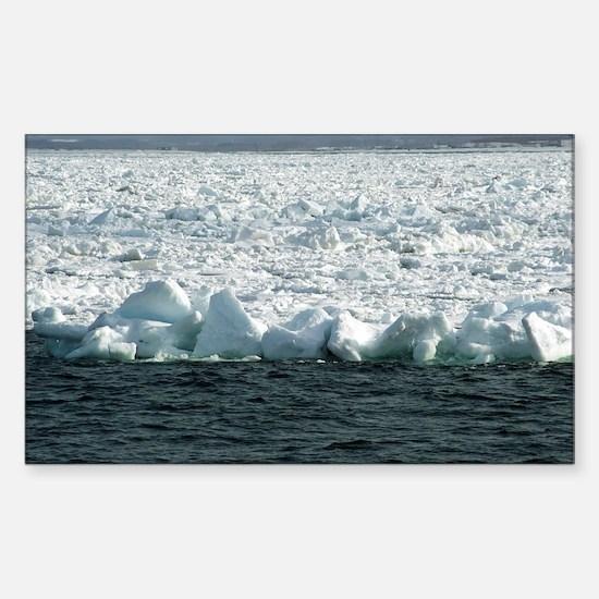 wall of drift ice Sticker (Rectangle)