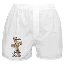 Pink Flower Cross Ribbon, Christian J Boxer Shorts