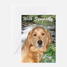 Golden Retriever Sympathy Card Greeting Cards