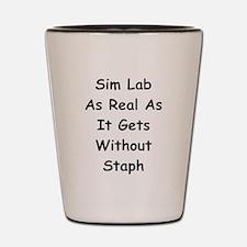 Sim Lab Staph Shot Glass