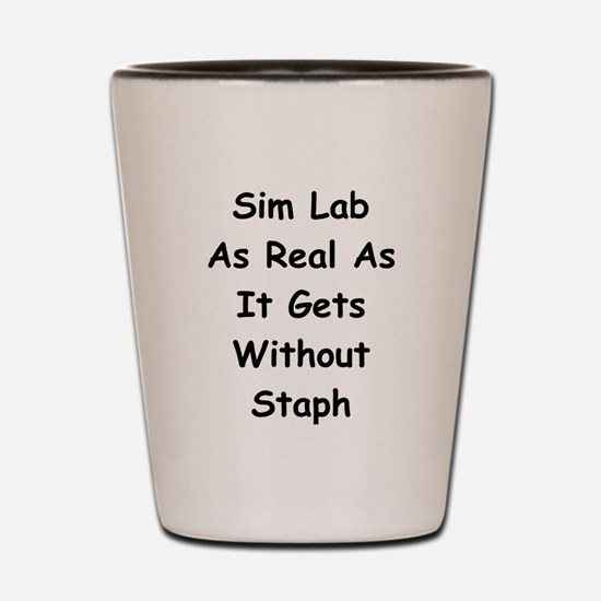 Sim Lab Staph Shot Glass