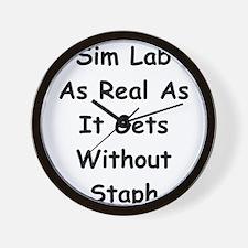 Sim Lab Staph Wall Clock