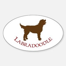 Labradoodle Dog Oval Stickers