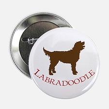 Labradoodle Dog Button