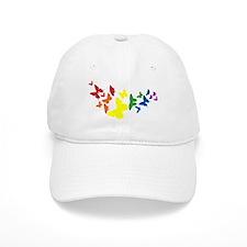 Rainbow Flutter Baseball Baseball Cap