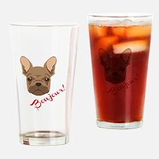 Bonjour! Drinking Glass