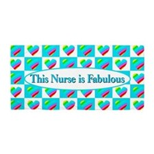 Nurse Hearts Beach Towel